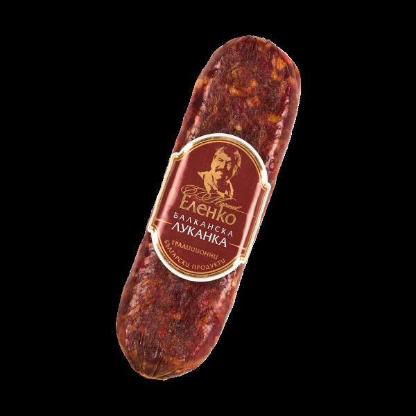Balkan veal lukanka flat sausage