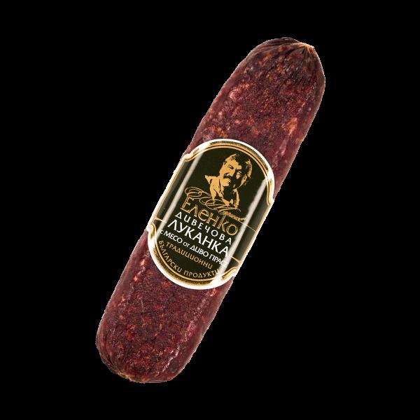 Луканка с месо от Диво прасе 180гр. 7,50лв.