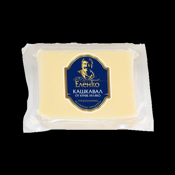 Bulgarian yellow cheese Elenko cow's - plate